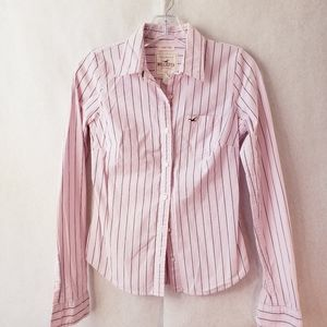 Hollister stretch long sleeve button up
